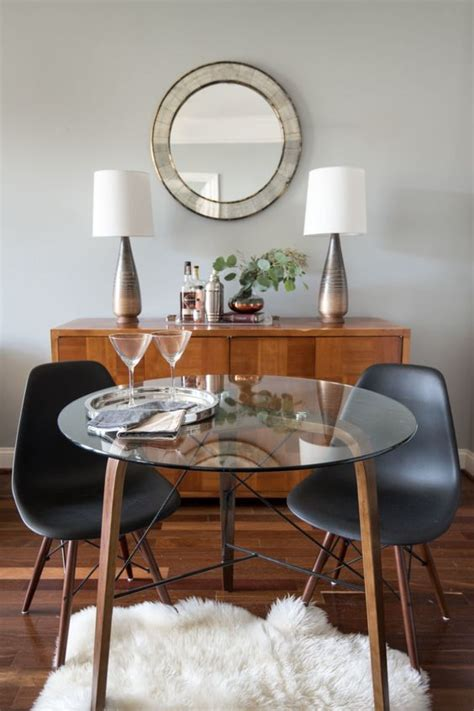 ways  incorporate  glass dining table