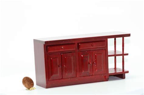 dollhouse miniature mahogany kitchen island ebay