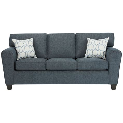 City Furniture Zoey Dk Blue Microfiber Sofa Furniture Sofas