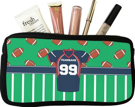 football jersey makeup cosmetic bag personalized