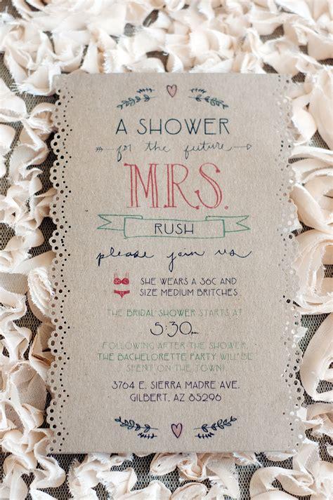Handmade Wedding Ideas - handmade wedding ideas bridal shower invite onewed