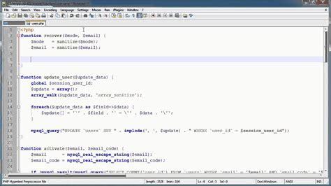 tutorial php login registration php tutorials register login part 18 forgotten