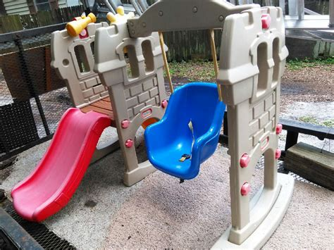 little tikes swing set with slide letgo little tikes swing slide set in florence villa fl