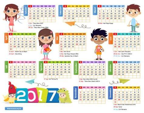 Kalender Baru 2017 kalender 2017 versi excel dan pdf darmawan