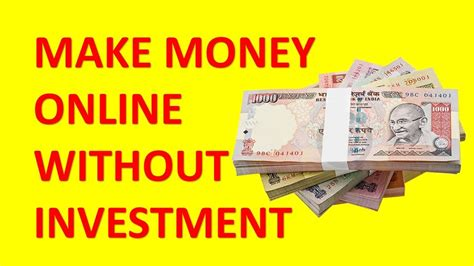 Make Money Online With No Investment - you want to start making money online with zero investment