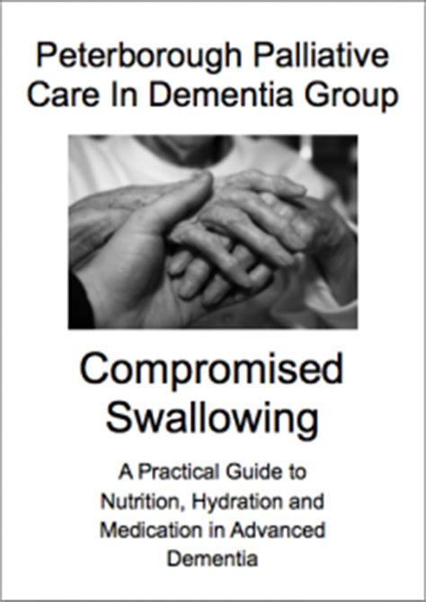dementia a practical handbook for working caring for a loved one books compromised swallowing a practical guide to nutrition