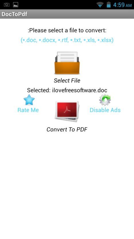 convert pdf to word app android 4 free word to pdf converter apps for android