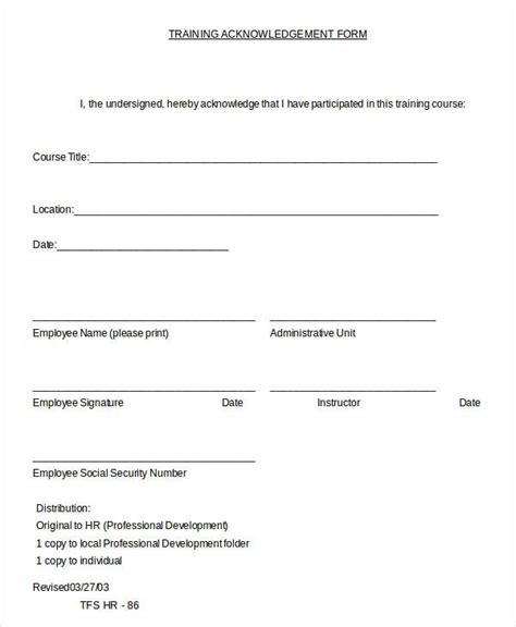 acknowledgement form template 24 letter templates in doc free word documents