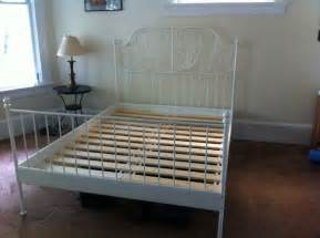 Ikea White Bed Frame Metal Ikea Leirvik Slatted Bed Frame White 120 Was 220 New Luxton And Sell All Their