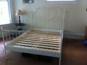 Ikea Metal Bed Frame Ikea Leirvik Slatted Bed Frame White 120 Was 220 New