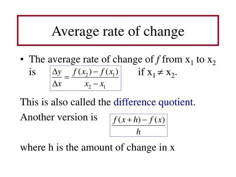 Ppt 2 4 Rates Of Change And Tangent Lines Powerpoint How To Find Rate Of Change In A Table