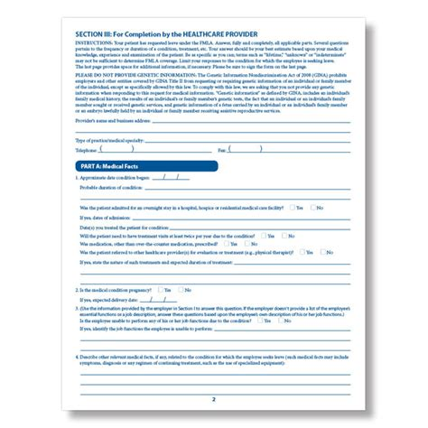 printable fmla poster fmla employee medical certification form