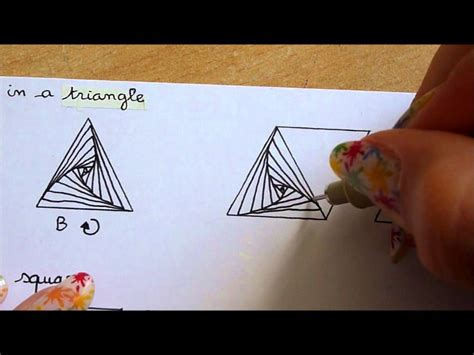 zentangle triangle pattern how i draw paradox in a triangle zentangle youtube