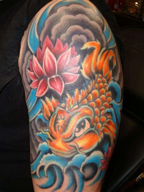 tattoo koi carp sleeves koi half sleeve tattoo