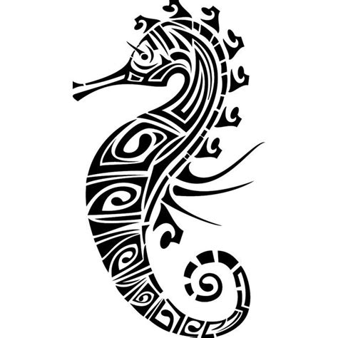 seahorse henna tattoo seahorse tribal image free vector tribal images