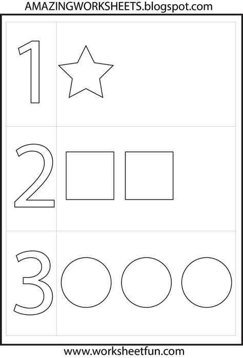 Number Worksheets For Preschool by Preschool Number One Worksheet Number 1 Preschool