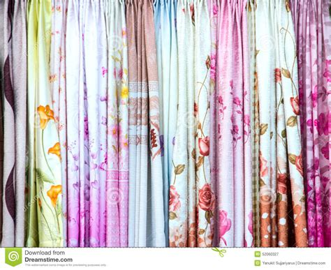 display curtains colorful curtain sles hanging display in a retail shop