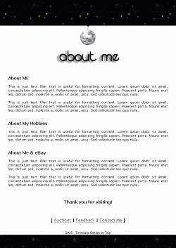 Ebay About Me Page Templates About Page Template