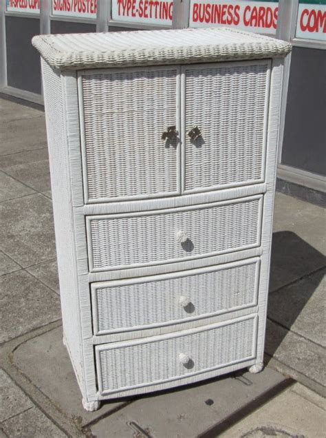 Wicker Chest Of Drawers by Uhuru Furniture Collectibles Sold Wicker Chest Of