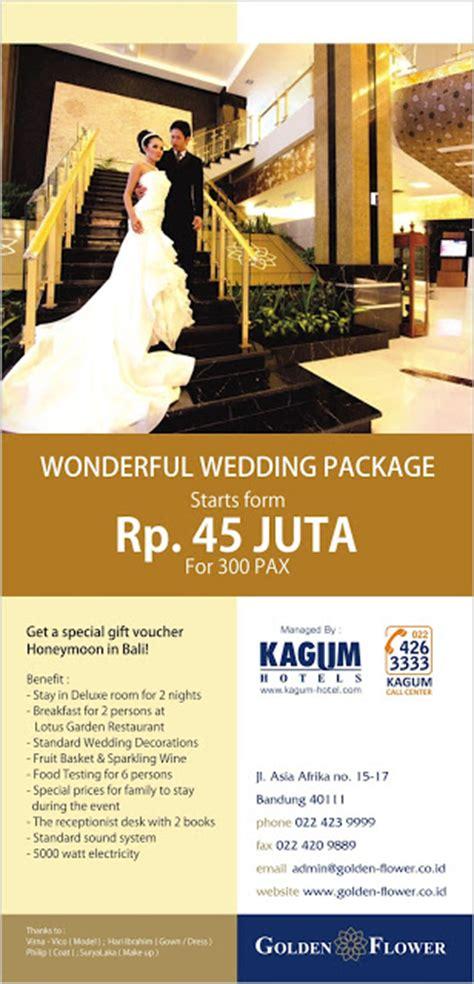 Wedding Package Bandung by Hotel Bandung Promo Wedding Package Hotel Golden Flower