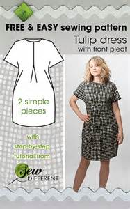 Tulip dress with colourblock free sewing pattern lc010
