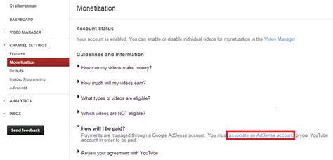 adsense youtube dan blog cara mendaftar dan memasang google adsense youtube blog
