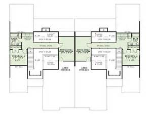 2 story duplex house plans multi family home plans two story duplex plan 025m