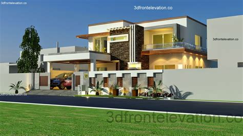 3d front elevation 1 kanal house plan layout 50 x 90