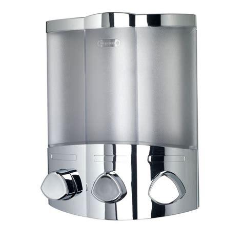 bathroom dispensers croydex euro trio bath shower soap shoo dispenser