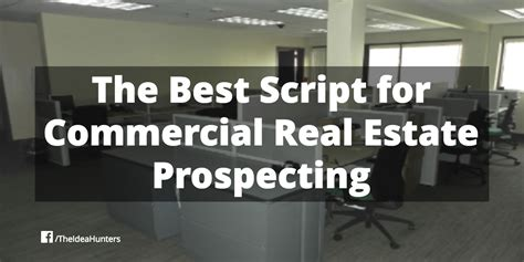 is commercial real estate for you books the best script for commercial real estate prospecting