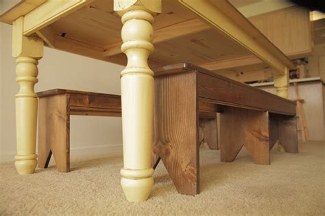 diy farmhouse table turned legs white turned leg farmhouse table diy projects