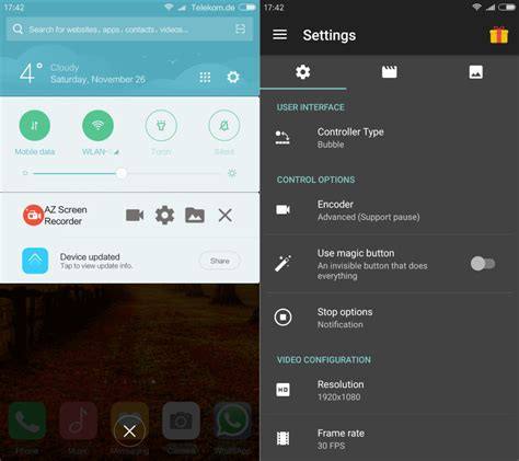 capture for android record your android screen with az screen recorder tapatalk