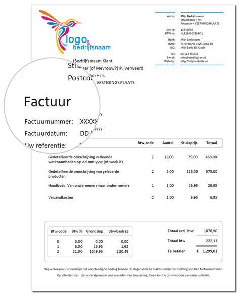 Voorbeeld Factuur Bouw voorbeeld een factuur bekijk en factuur