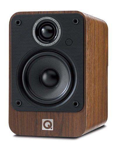 acoustics  speakers pair walnut electronics