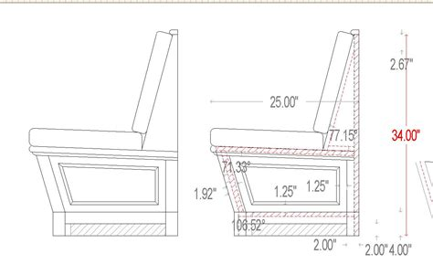 bench specs dimensions built in seating we delivered this built in