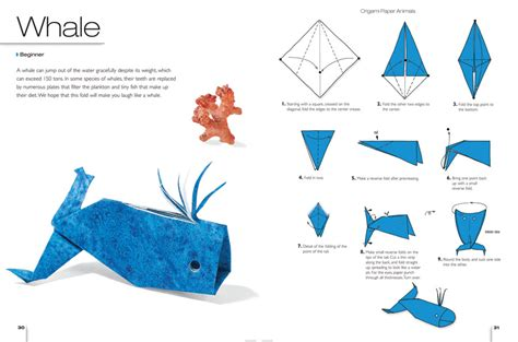 Simple Origami Animals - whale origami for beginners 2016