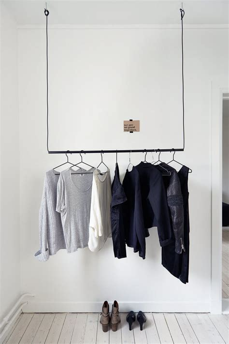 Diy Hanging Clothes Rack by Idea For Hanging Clothes Home Sweet Home