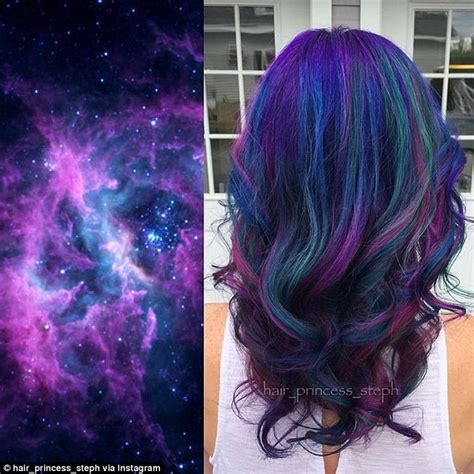 voted best hair dye galaxy hair trend sees locks dyed in deep purples and