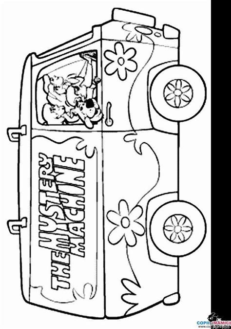 mystery machine coloring pages for free mystery machine