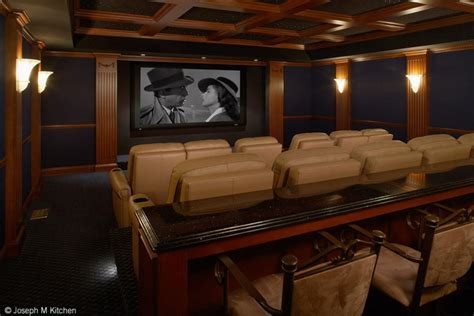 residential bar  theatre contemporary home theater