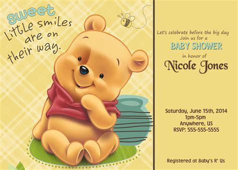 Custom Winnie The Pooh winnie the pooh baby shower custom invitations 8 99