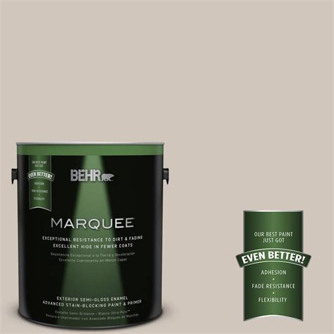 behr marquee 1 gal n210 2 cappuccino froth semi gloss enamel exterior paint 545401 the home
