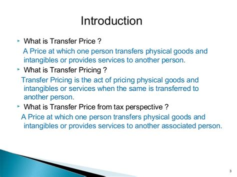Transfer Pricing Mba Notes by Transfer Pricing Regulations In India