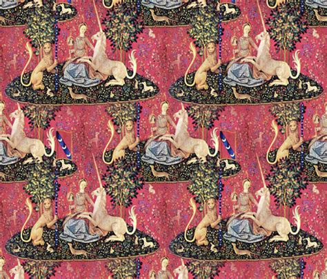 unicorn tapestry pattern the lady the unicorn tapestry fabric