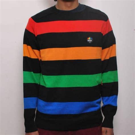 Sweater Skateboarding enjoi skateboards enjoi barred crew sweater sweatshirts