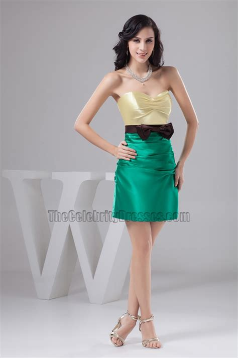color block cocktail dress color block strapless homecoming cocktail dresses