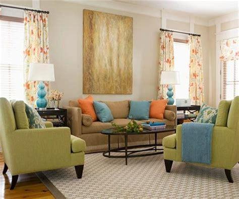Orange Green And Brown Living Room by Modelos De Cortinas Para Sala De Estar E Jantar