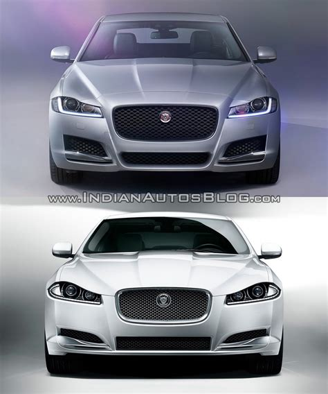 jaguar front 2016 jaguar xf vs 2012 jaguar xf old vs new
