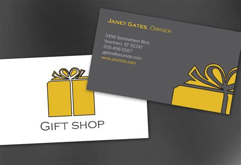 shop business card template business card template for gift shop retail store order