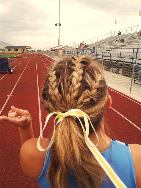 how to style hair for track and field cute track and field hairstyle нαιя αи вєαυту